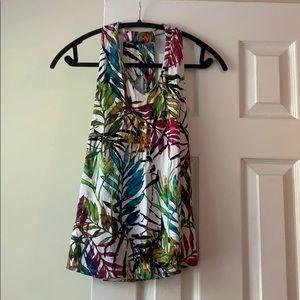 Cupio tropical floral tank blouse, size M